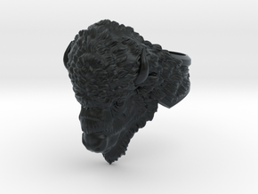 Bison Head Ring in Black Hi-Def Acrylate: 11.5 / 65.25