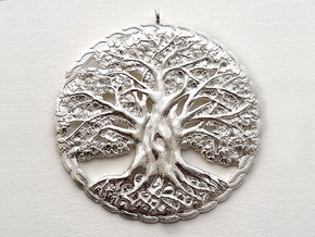 Tree of Life Pendant in Natural Silver