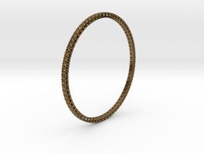 "Bangle simple ""diamonds"" in Natural Bronze"