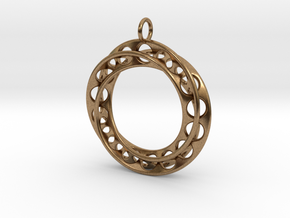 Moebius Band Ø30mm Pendant improved Version in Natural Brass