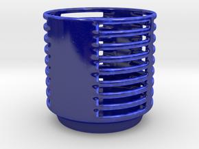 Candle Holder DD in Gloss Cobalt Blue Porcelain