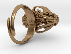 Cat Ring in Natural Brass