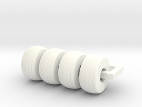 19L-16 Implement Tire in White Processed Versatile Plastic