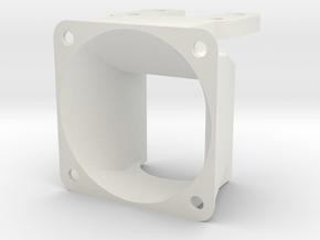 40mm fan shroud For E3D Lite6 / Kossel in White Natural Versatile Plastic