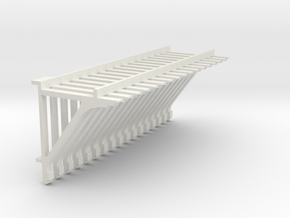 PEIR 1904 Booking Stn Roof Brackets 1 25 Scale X 1 in White Natural Versatile Plastic