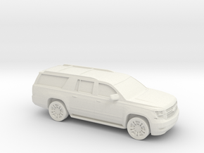1/64 2015 Chevrolet Suburban in White Natural Versatile Plastic