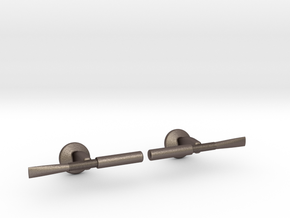 Oboe Reed Cufflinks in Polished Bronzed Silver Steel