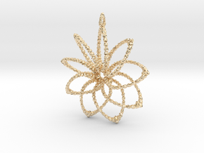 Cluster Funk 9 Points - 5cm, Loopet in 14K Yellow Gold