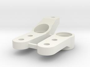 0002 - Astute D2+3, Steering Arms in White Natural Versatile Plastic