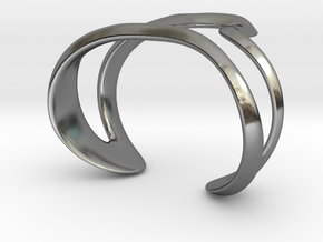 Mind generated bracelet - my idea of art in Polished Silver: Large