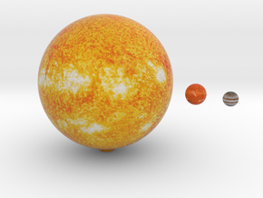 The Sun, Proxima & Jupiter to scale  in Full Color Sandstone
