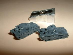 "Heavy Tank ""Neubaufahrzeug"", 2 Variants 1/285 6mm in Smooth Fine Detail Plastic"