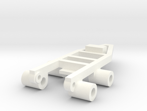 Tile Stringer Frame in White Processed Versatile Plastic