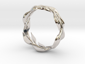 Vine Band, Size 9 in Rhodium Plated Brass