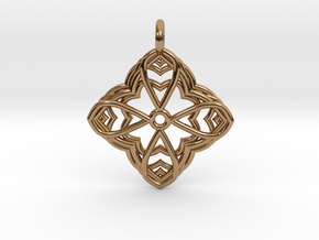 Mandala Pendant 2 in Polished Brass