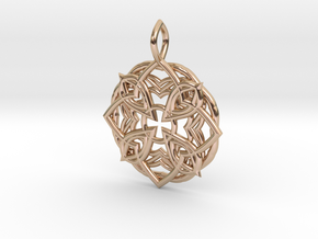 Mandala Pendant 3 in 14k Rose Gold Plated