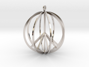 Global Peace in Rhodium Plated Brass