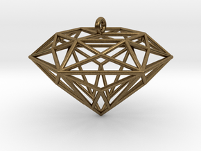 Diamond Ornament in Natural Bronze