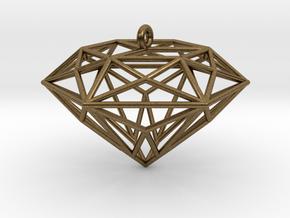 Diamond Ornament in Natural Bronze