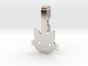 Cat Collar Hanger in Platinum