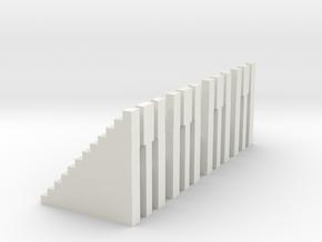 Bleachers N Scale 12 Risers in White Natural Versatile Plastic