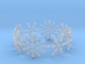 Snowflake Bangle (medium) in Smooth Fine Detail Plastic: Medium