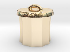 Power Grid Garbage Pails - One Pail in 14K Yellow Gold
