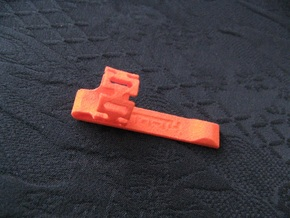 "Pen Clip: for 12.7mm (1/2"") Diameter Body in Orange Processed Versatile Plastic"