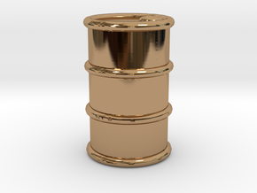 Power Grid Oil Barrels - One Barrel in Polished Brass