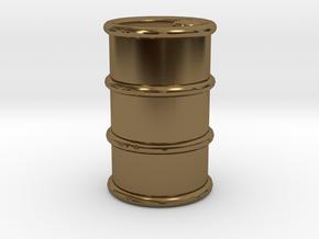 Power Grid Oil Barrels - One Barrel in Polished Bronze