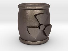 Power Grid Uranium Barrels - One Barrel in Polished Bronzed Silver Steel