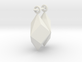 Shard Earrings in White Natural Versatile Plastic