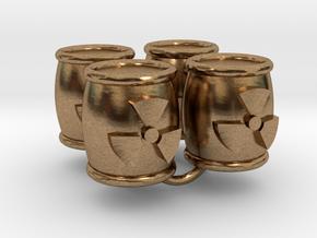 Power Grid Uranium Barrels - Set of 4 in Natural Brass