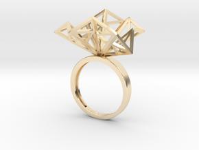 Geometric Jungle Ring in 14K Yellow Gold: 7 / 54