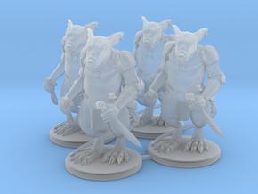 Elite Rat Warriors x4  in Smooth Fine Detail Plastic