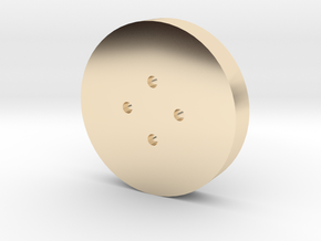 Small Shirt Button in 14K Yellow Gold
