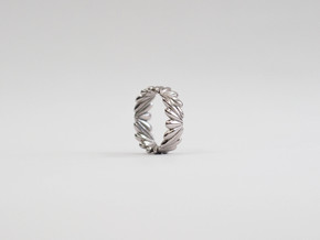 Drops Ring   3 sizes in Rhodium Plated Brass: 6 / 51.5