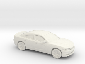 1/87 2015 Dodge Charger in White Natural Versatile Plastic