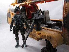 Action figure compatible 1/18 Scale 50 Cal machine in White Strong & Flexible