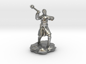 High Elf (Eladrin) Monk With Mace in Natural Silver
