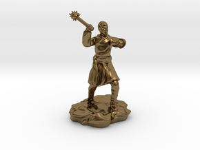High Elf (Eladrin) Monk With Mace in Natural Bronze