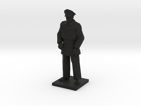 Police Standing (Winter in Gotham), 1/64 in Black Natural Versatile Plastic