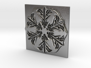 Snowflake in Natural Silver: Extra Large