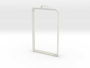 SimpleBadge in White Natural Versatile Plastic