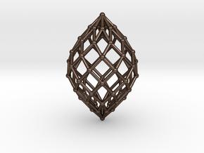 0578 Polar Zonohedron V&E [9] #002 in Polished Bronze Steel