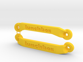 CW01 Chassis Braces - Lunchbox in Yellow Strong & Flexible Polished