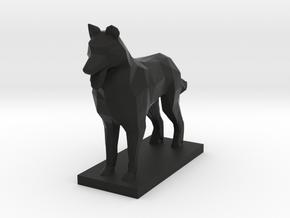 German Shepherd, Multiple Scales in Black Natural Versatile Plastic: 1:64 - S
