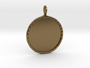 Mirror Charm in Polished Bronze