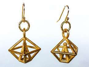 Graterford in Polished Gold Steel: Small