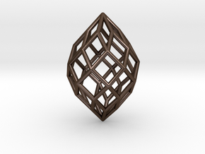 0491 Polar Zonohedron E [7] #001 in Polished Bronze Steel